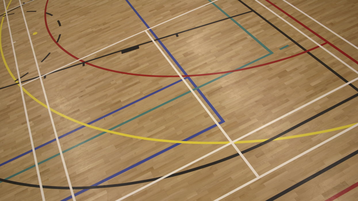 sports hall floor - range of sports