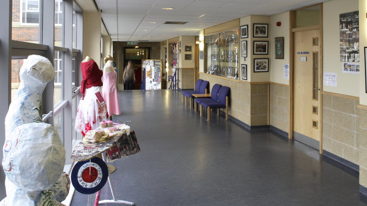 View along a corridor in the extension