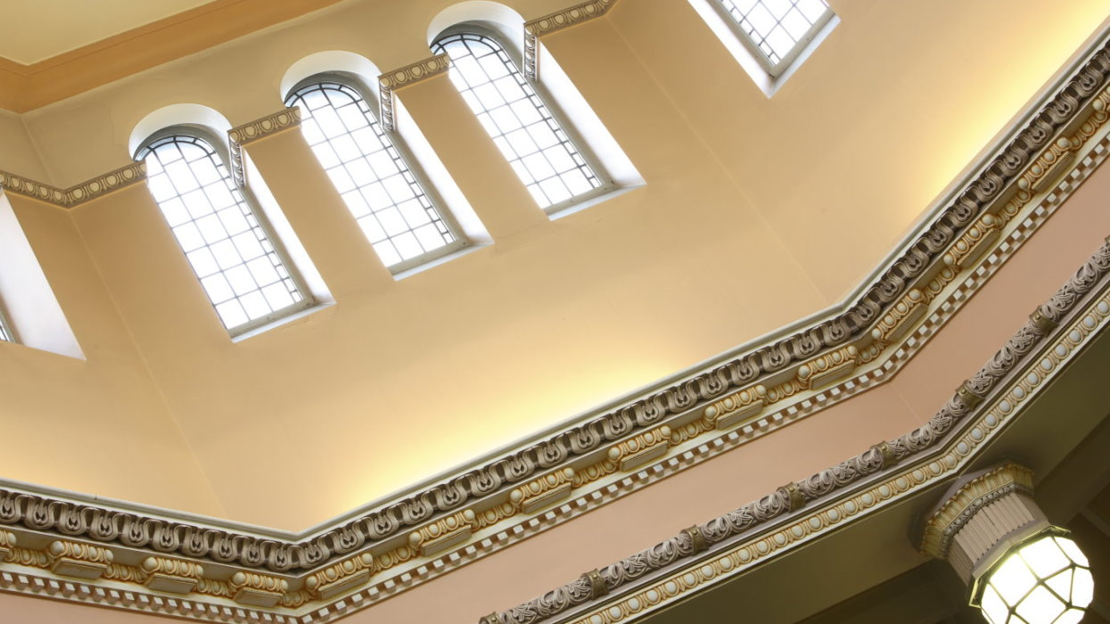 View of the ceiling