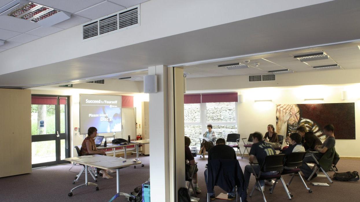 Inside a communal area/classroom