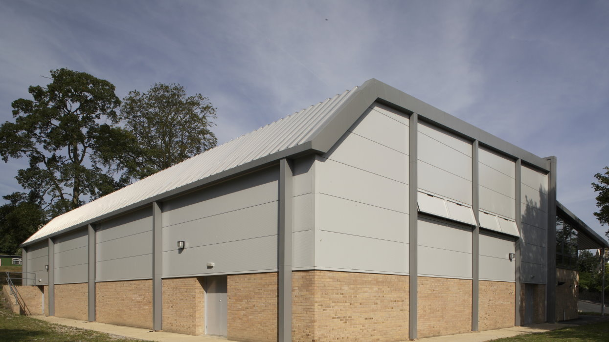 holy family sports hall cladding