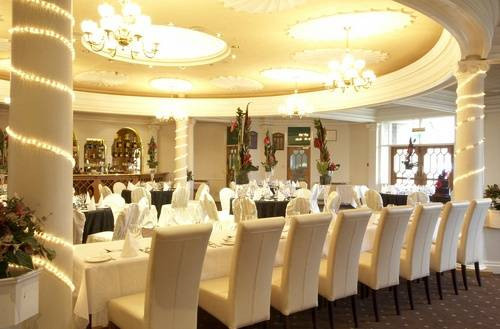 Main dining room of hotel