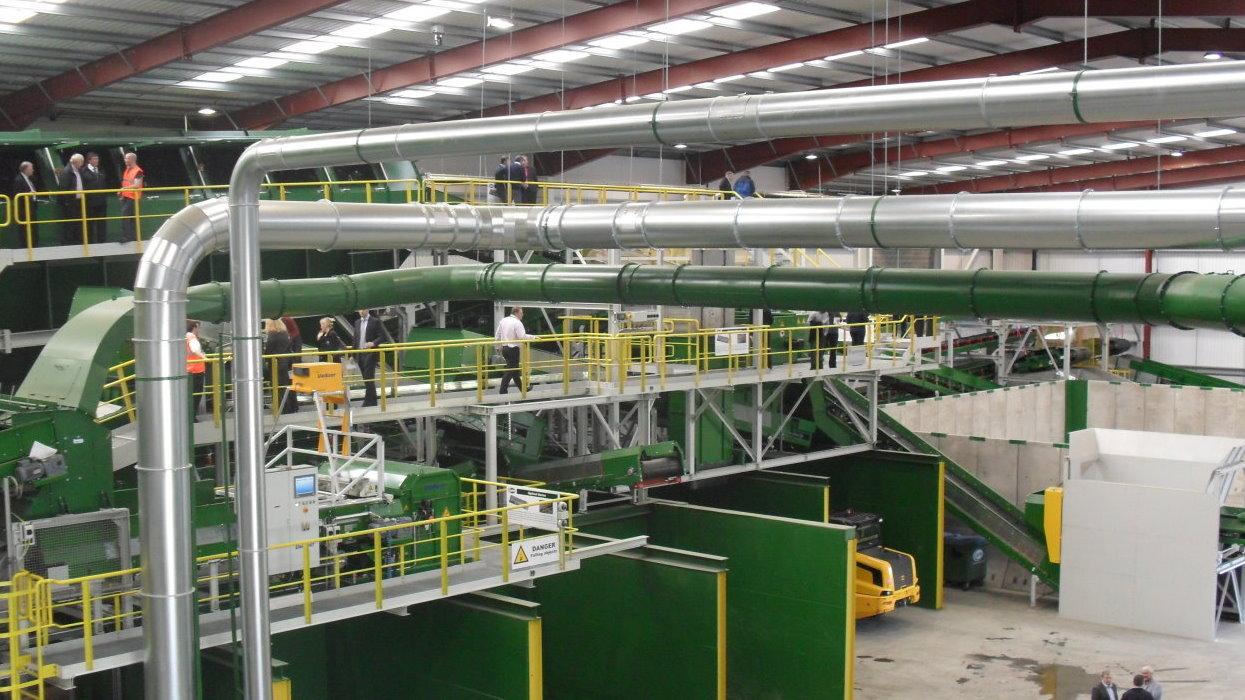 View of a big machine