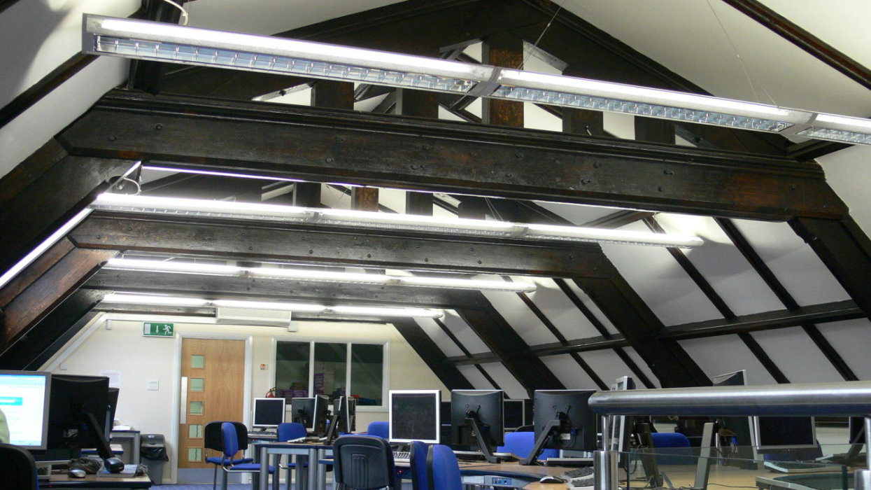 New sixth form centre inside, upstairs