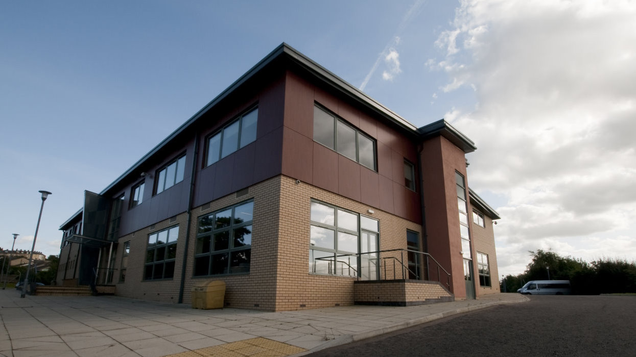 View from outside of new extension