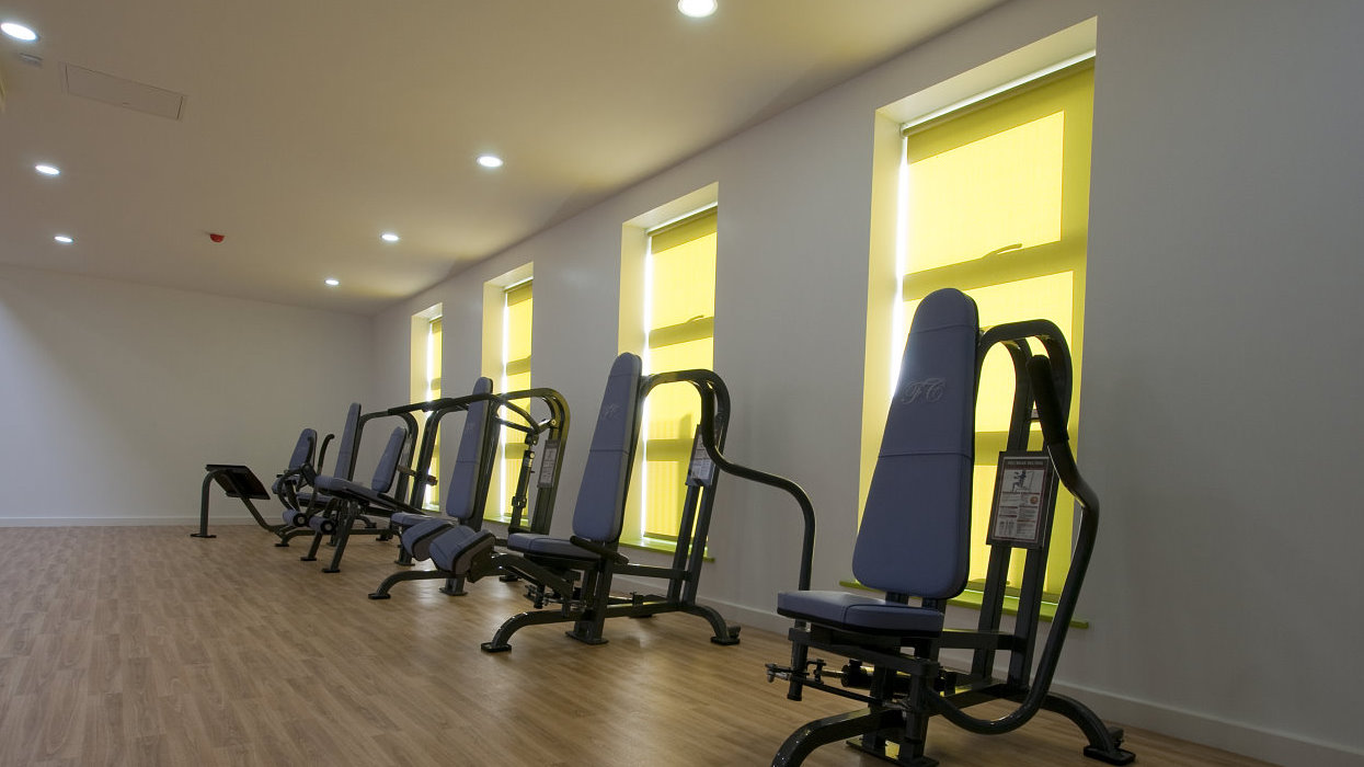 View of exercise equipment